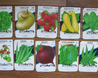 Vintage Seed Packs Veggie Gardens Gardeners Vegetables Gardening Greens Beets Salad