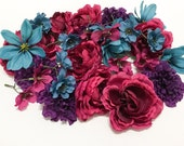 Destash Silk Flowers - SOME BLEMISHED - Ranunculus, Dahlia, Zinnia - Artificial Flowers, Artificial Roses, As Is - No Returns