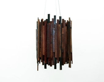 "Wine Barrel Cityscape Chandelier - CITY - ""Lux Civitatem"" --100% RECYCLED"