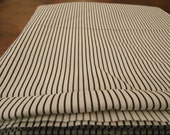 """2 plus yards White Fabric with Black Pin Stripes, Cotton or cotton blend 44"""" wide"""