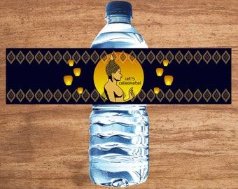 Instant Download Thai Party Water Bottle Labels