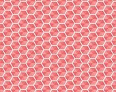 Desert Bloom Fabric Hexies in Pink by Amanda Herring - 1 Yard