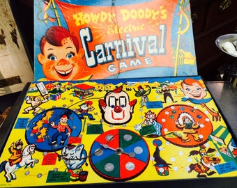 Vintage 1950s Howdy Doody Electric Carnival Board Game