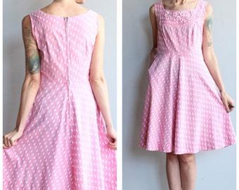 1950s Dress // Tear Drops Dress // vintage 50s dress