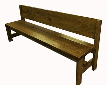 7 foot Bench with back