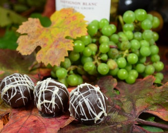 Chocolate Wine Truffles, Sauvignon Blanc, Wine Truffles, Dark Chocolate, Truffles, Chocolate Wine, Gifts for Her, Hostess Gift