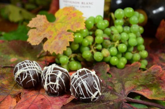 Chocolate Wine Truffles, Sauvignon Blanc, Wine Truffles, Dark Chocolate, Truffles, Chocolate Wine, Gifts for Her, Hostess Gift
