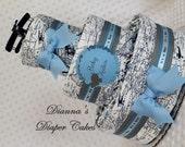 Baby Diaper Cake Airplanes Travel Final Destination World Map Shower Centerpiece Gift