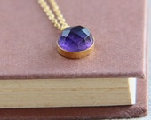 SALE, Amethyst Gemstone Necklace, Amethyst Necklace, Crystal Necklace, Amethyst Pendant Necklace, Amethyst Pendant, Gemstone Necklace