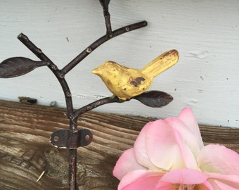 Bird Hook, Bird Decor, Wall Hook, Hanger, Shabby Chic Hanger, Home and Garden Decor