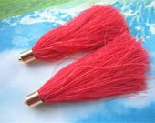 4pcs 85mm Gold Plated Metal cap--coral tassel findings pendants