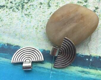 50pcs 22x16.5mm antiqued silver small fan bails findings pendants