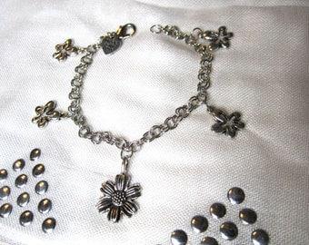 Flowers Charm Bracelet