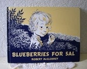 Children's Book: BLUEBERRIES FOR SAL, By Robert McCloskey, Hardcover, 1976 edition.