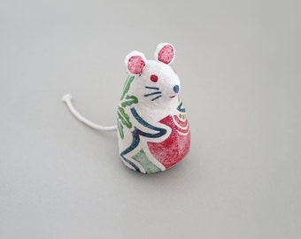 Woodblock Print Stuffed Toy, Mouse