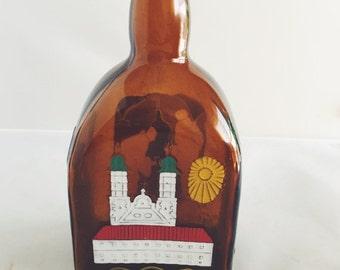 ON SALE Antique Anton Riemerschmid Munchen Bottle Germany Liquor Handpainted