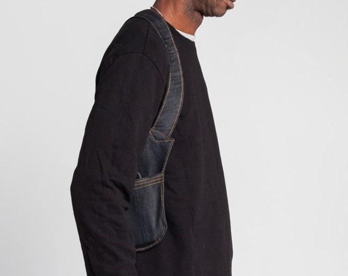 Denim Holster Bag / Unisex Body Wallet / Denim Festival Bag / Travel Shoulder Bag / Confortable Vest / Pocket Original Accessory