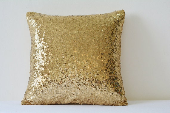 Antique Gold Pillow Cover Dull Gold Cushion Cover Holiday