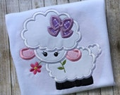 Easter Lamb Applique Embroidered Shirt