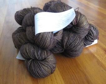 Madelinetosh Pashmina worsted (silk/cashmere/wool) Fig colorway *destash* (brown)