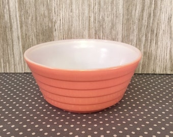 Vintage Pastel PINK small glass fruit bowl
