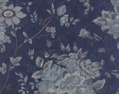 Blue Barn Prints - Holiday Bouquets in Midnight by Laundry Basket Quilts for Moda Fabrics