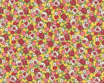 Bread 'n Butter - Pansies in Yellow by American Jane for Moda Fabrics