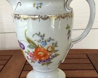 ON SALE!! Rosenthal Selb-Bavaria Vintage Floral China Pitcher