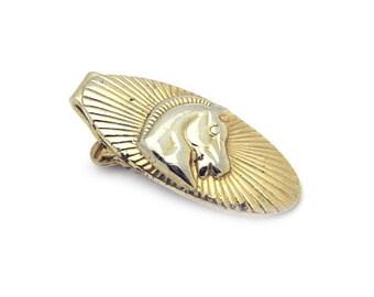 Antique Gold Tie Bar Horse #297