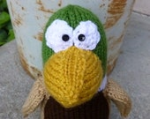 Dudley the Duck Knitted Toy