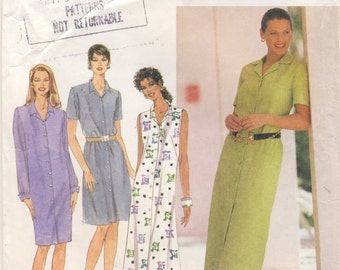Simplicity 7591 Misses Button front Shirt Dress Size 14 - 16 - 18