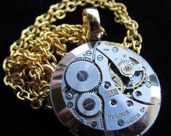 Steampunk Watch Movement Necklace Pendant A 12