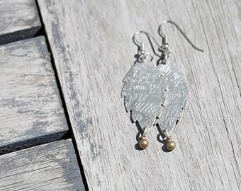 Fish Earrings, Rustic Metal Earrings, Fish Jewelry