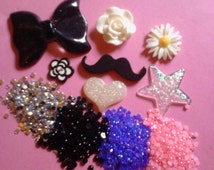 Kawaii decoden cabochon girly decoden deco diy charm kit   264---USA seller