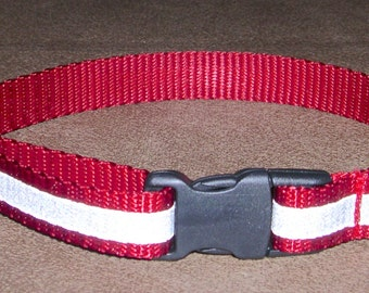 "3/4"" Dog Tag Collar Reflective Buckle Style for Sighthounds/Greyhounds"