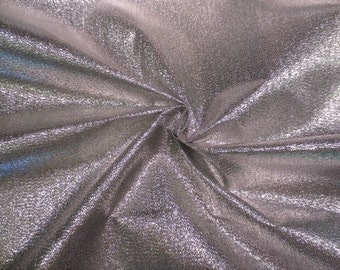 SPECIAL--Shiny Silver Metallic Lame Fabric for Party Decor Table Toppers or Costumes--By the Yard