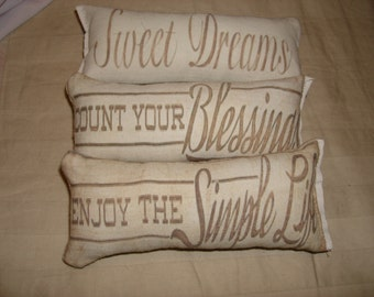 3 pc sweet dreams themed ornies decorative bowl fillers primitive shabby tucks