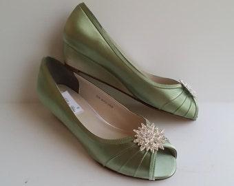 Wedding Shoes Sage Etsy