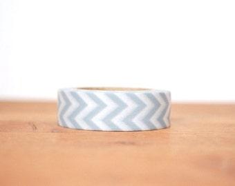 washi tape: grey and white chevrons