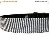 ON SALE Handmade Dog Collar -Black Seersucker
