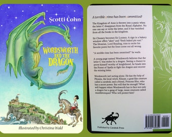 "Childrens Book ""Wordsworth and the Dragon"" Illustrated Humor Fantasy Grades 3-5 Authored Autographed by Seller"