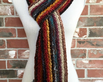 Stripey Colors Scarf Multicolor Accessory Bulky Rainbow Fall Fashion Mens