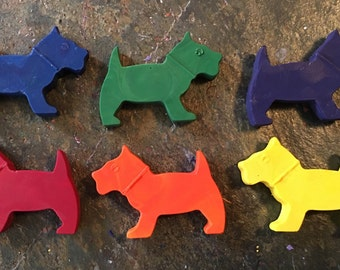 Scottie dogs crayons