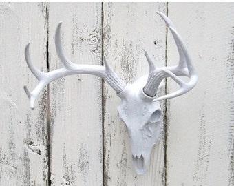 Deer Skull // Deer Decor // Choice Color // Deer Hunter // Skull // Faux Animal Head // Faux Taxidermy