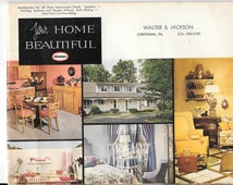 """Vintage 1965 Decorating Booklet by Glidden, """"Your Home Beautiful"""" Booklet, 48 pgs, 10 3/4 x 8 1/4"""", Vintage Home Decor Design Ideas"""