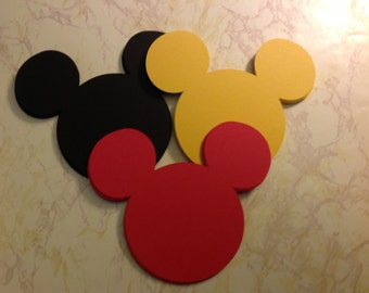 33 Mickey Mouse Die Cuts 3 inch