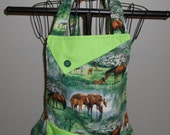 Horses and Flowers Women's Apron