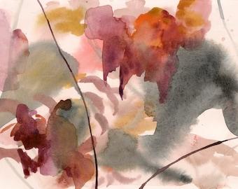 "Wild and Dangerous, 7 x 10.25"", original watercolor on paper"