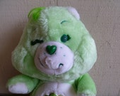 "Vintage Care Bear ""GoodLuck Bear"" Plush 1984"