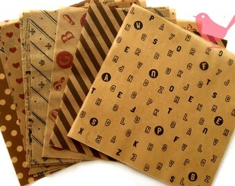 Chiyogami Origami Wax paper- 12 pieces
